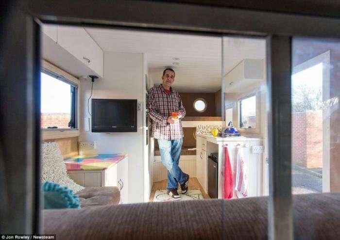 Саморобний будинок на колесах - фотографії інтерєру